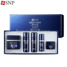 SNP Bird's Nest Revital Recovery Cream Special Set 5items,SNP