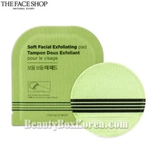 THE FACE SHOP Soft Facial Exfoliating Pad 8g*5ea,THE FACE SHOP