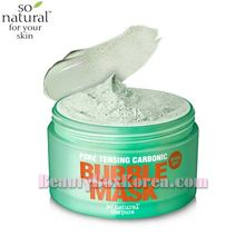 SO NATURAL Pore Tensing Carbonic Bubble Pop Clay Mask 130g,SO NATURAL