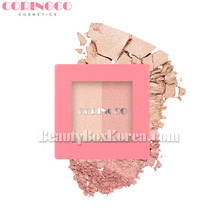 CORINGCO Pink Square Dual Highlighter 10g,CORINGCO