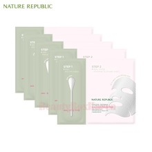 NATURE REPUBLIC Green Derma Real Gauze Peeling Mask 28g*5ea,NATURE REPUBLIC