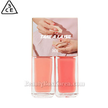 3CE Take A Layer Layering Nail Lacquer 4ml*2ea,3CE