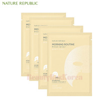 NATURE REPUBLIC Morning Routine Mask Sheet 17g*10ea ,NATURE REPUBLIC