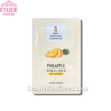 [mini] ETUDE HOUSE Fresh Squeeze Juice Cleansing Foam Pineapple 1ml*10ea,ETUDE HOUSE