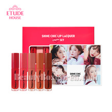 ETUDE HOUSE New Shine Chic Lip Lacquer Mini Best 5 Colors & Red Velvet Photocard Set,ETUDE HOUSE
