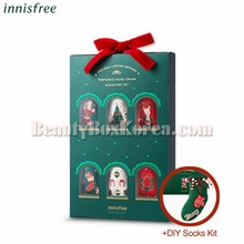 INNISFREE Perfumed Handcream Miniature Set 20ml*6ea+DIY Socks Kit[2018 Green Christmas Limited Edition],INNISFREE