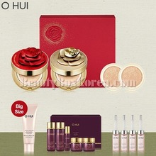 O HUI Ultimate Cover Cushion Moisture Red&Gold Rose Petal Duo Edition Special Set 14items,OHUI