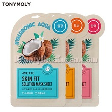 AVETTE Skin Fit Solution Mask Sheet 23ml,TONYMOLY