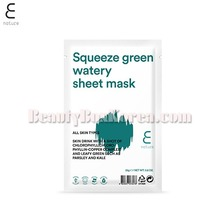 E NATURE Squeeze Green Watery Sheet Mask 25g,E NATURE