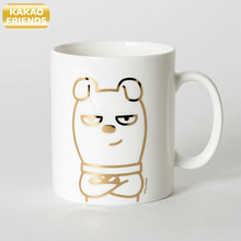 KAKAO FRIENDS Gold Line Mug 1ea,KAKAO FRIENDS