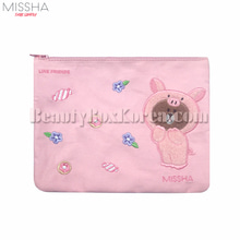 MISSHA LINE FRIENDS Piggy Brown Pouch 1ea,MISSHA
