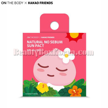 ON THE BODY KAKAO FRIENDS Natural No Sebum Sun Pact Apeach 9g,ON THE BODY