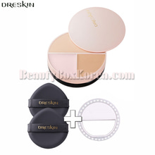 DRESKIN Chippon Pact Balm 14g+Puff 2ea+selfie Ring Light 1ea,DRESKIN