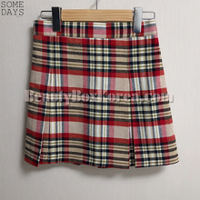 SOMEDAYS Check Mini Tennis Skirt 1ea,SOMEDAYS