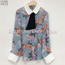 SOMEDAYS Flower Tie Blouse 1ea,SOMEDAYS