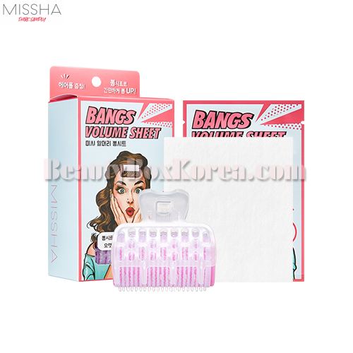 MISSHA Bangs Volume Sheet 1.5*10ea+Hair Roll 1ea+Clip 1ea,MISSHA