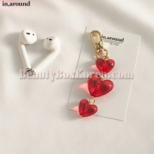 IN AROUND Red Drop Heart AirPods Keyring 1ea,IN AROUND