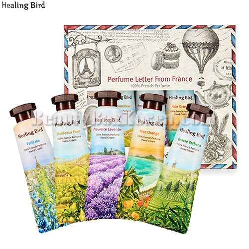 HEALING BIRD French Perfume Hand Cream Miniature Set 5items,HEALING BIRD