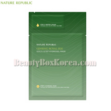 NATURE REPUBLIC Ginseng Royal Silk Gold 2 Step Hydrogel Mask 35.5g,NATURE REPUBLIC