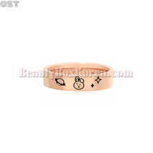 OST X BT21 Rose Gold Ring 1ea,OST