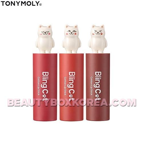 TONYMOLY Bling Cat Cotton Lip Stick  3.4g,TONYMOLY