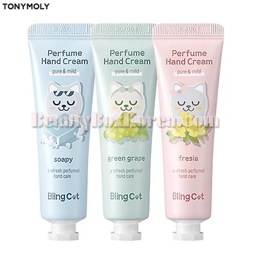 TONYMOLY Bling Cat Perfume Hand Cream 30ml,TONYMOLY