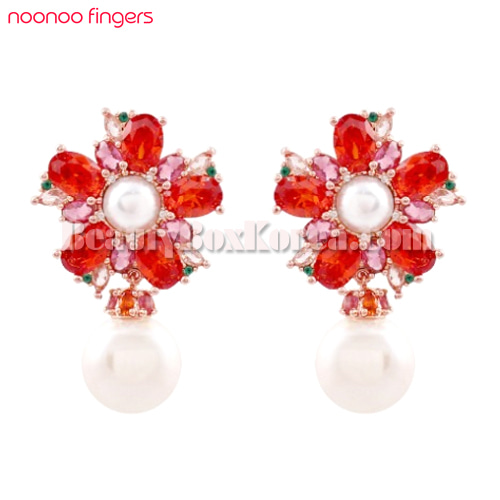 NOONOO FINGERS Plum Tree Blossom Earrings 1ea,NOONOO FINGERS