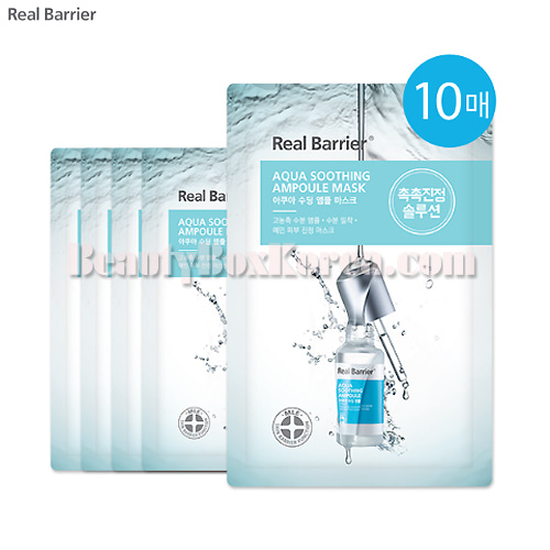 REAL BARRIER Aqua Soothing Ampoule Mask 28ml*10ea,REAL BARRIER
