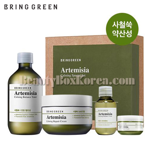 BRING GREEN Artemisia Calming Toner Cream Set 4items,BRING GREEN