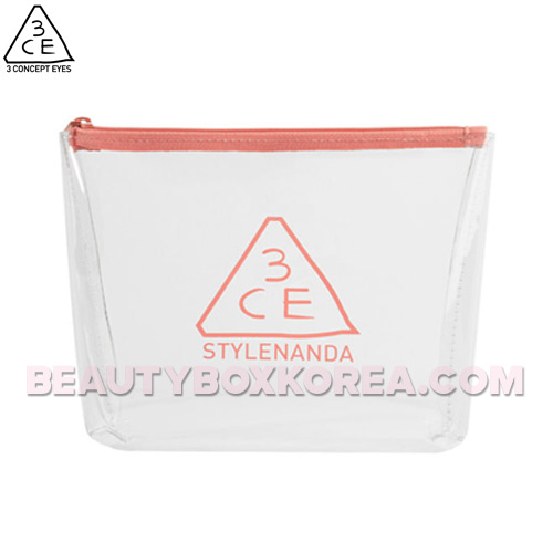 3CE Clear Trapeze Pouch #PINK BEIGE 1ea,3CE