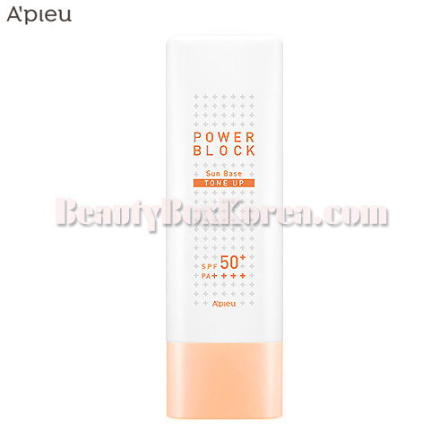 A'PIEU Power Block Tone Up Sun Base (Beige) SPF50+ PA++++ 50ml,A'Pieu