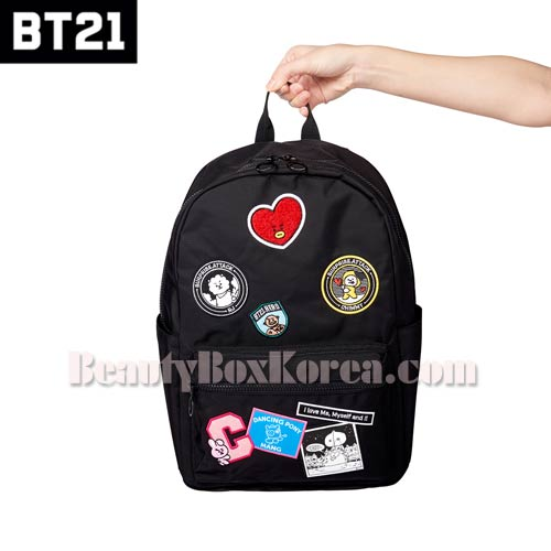 BT21 Black Wappen Backpack 1ea,BT21