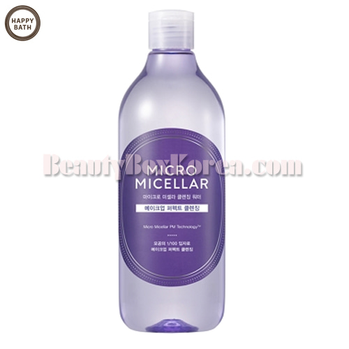 HAPPY BATH Micro Micellar Cleansing Water 400ml,HAPPY BATH