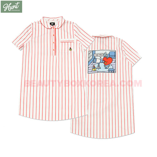 HUNT INNERWEAR BT21 Short Sleeves One Piece Pajama 1ea,HUNT INNERWEAR