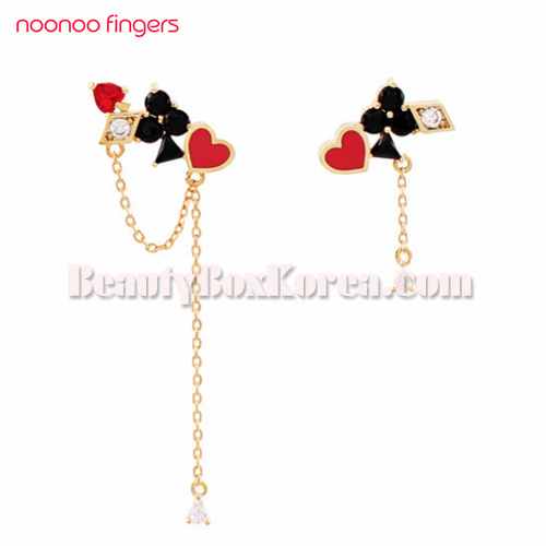 NOONOO FINGERS Card Earrings 1ea,NOONOO FINGERS