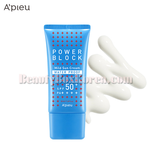 A'PIEU Power Block Water Proof Mild Sun Cream SPF50+ PA++++ 50ml,A'Pieu