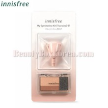 INNISFREE My Eyeshadow Kit Two Tone 2.2g + My Changeable Brush 1ea [LIMITED],INNISFREE