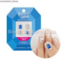 DASHING DIVA Gem Gem Stick-On Jewel 4pcs