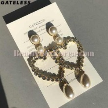 GATELESS Heart Queen Earrings 1pair,Beauty Box Korea