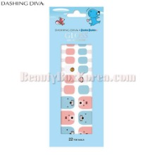 DASHING DIVA Gloss Gel Pedi Strip 1Set [BONOBONO Collection]