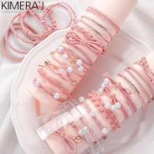 KIMERA-J Elastic Color Hair Tie Band 24pcs
