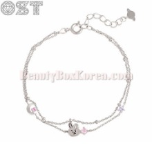 OST X BT21 Silver Double Chain Bracelet 1ea [2nd Edition],Beauty Box Korea