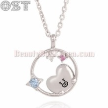OST X BT21 Silver Necklace 1ea [2nd Edition],Beauty Box Korea