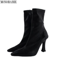 MONOBARBIE Glamourous Ankle Bootie Boots 9.5cm 1pair,Beauty Box Korea
