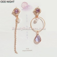 ODD NIGHT Charon Unbalanced Purple Earrings 1pair,Beauty Box Korea