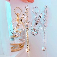 BLING STAR Cubic Pin Unbalanced Drop Earrings 1pair,Beauty Box Korea