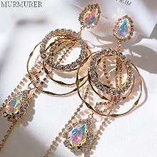 MURMURER Fancy Round Bold Earrings 1pair,Beauty Box Korea