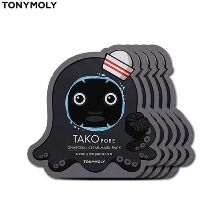 TONYMOLY Tako Pore Charcoal Clear Mask Pack 20g*5ea