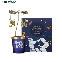 INNISFREE Bright Music Notes Scented Candle 60g [2019 Green Holiday Edition]