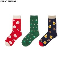 KAKAO FRIENDS Winter Wonderland Socks Gift Set 3items